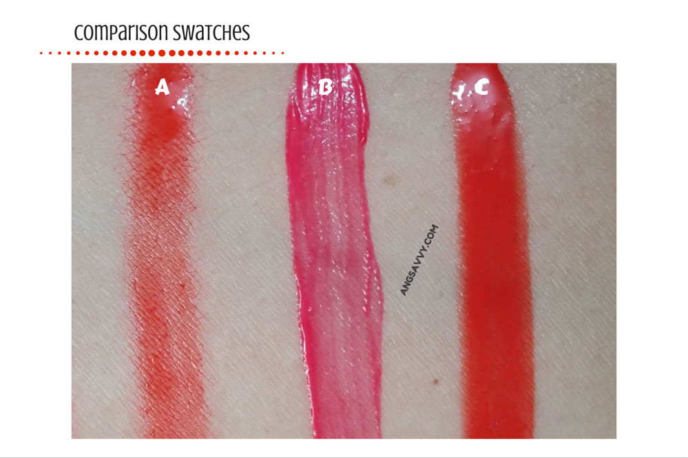 The Face Shop My Lips Eat Cherry Aqua Tint Juicy Cherry Swatches