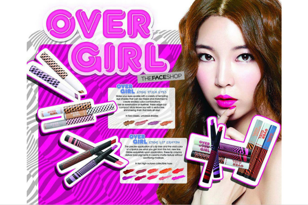 The Face Shop Over Girl Edge Lip Crayon RD02