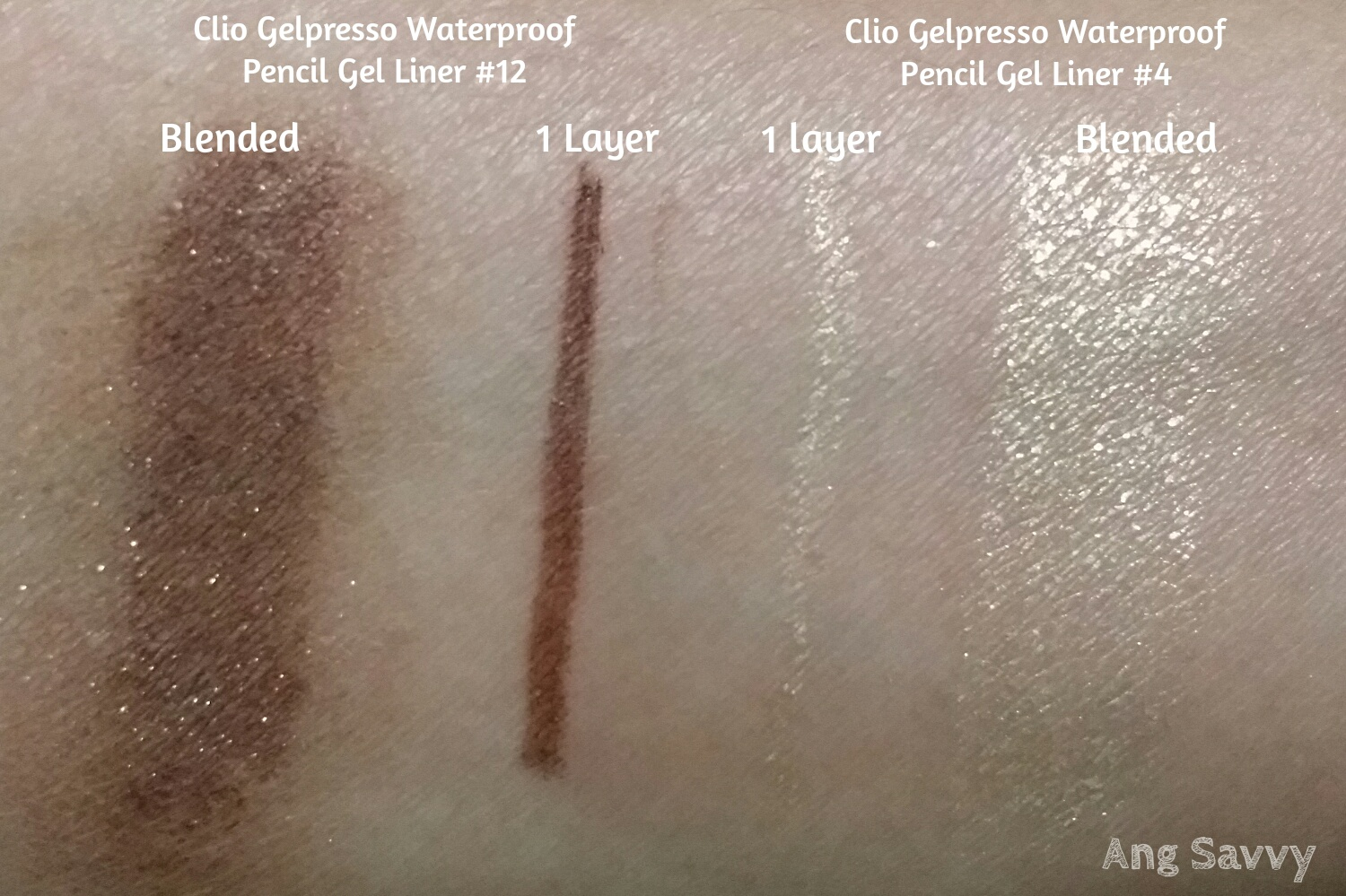Clio Gelpresso Waterproof Pencil Gel Liner Swatch