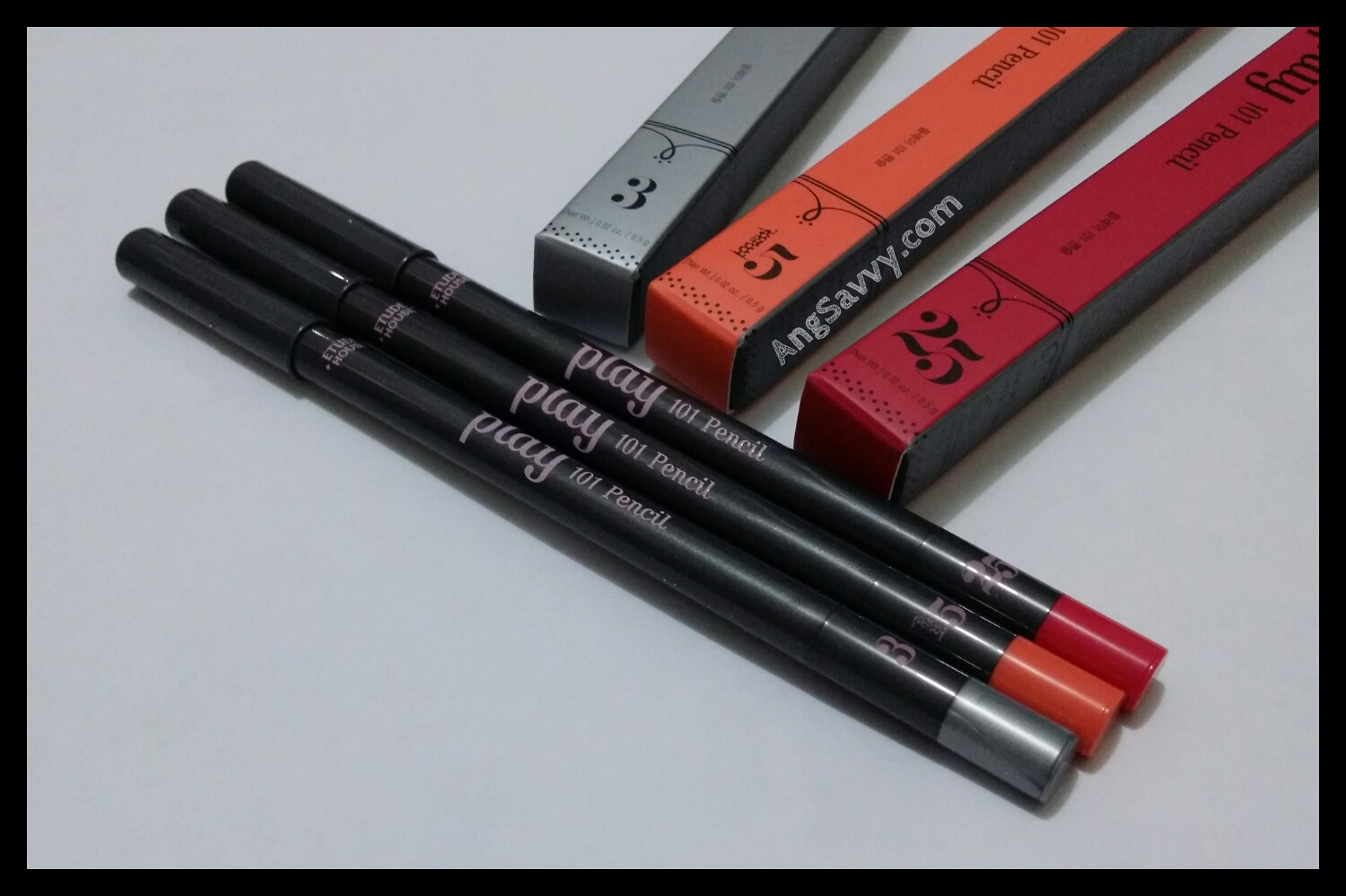 Etude House Play 101 Pencil in shades 3, 15 and 25