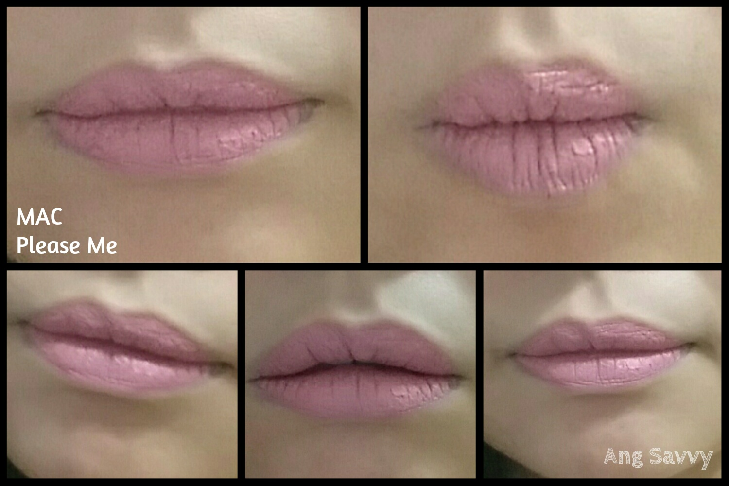 MAC Please Me Lipstick Swatch