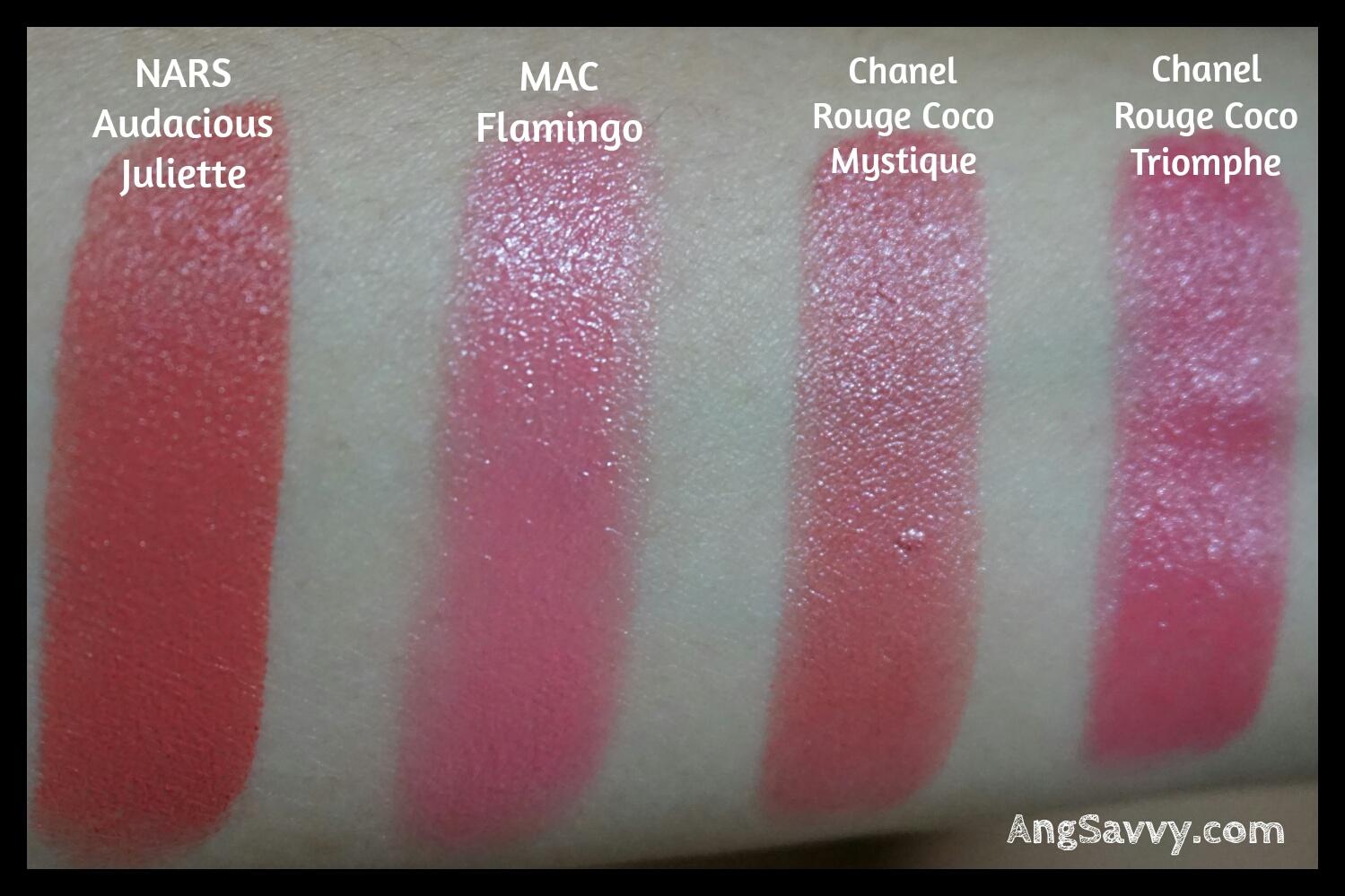 NARS Audacious Lipstick in Juliette Swatch