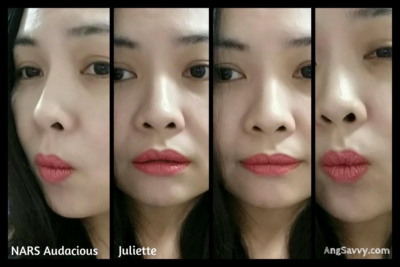 NARS Juliette Audacious Lipstick Swatch