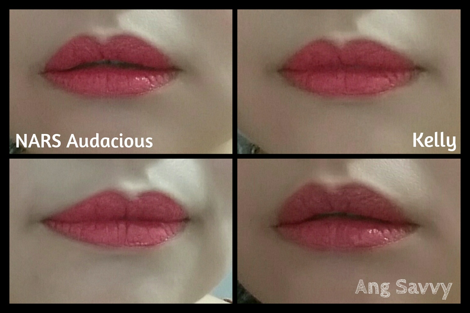 NARS Kelly Audacious Lipstick Swatches