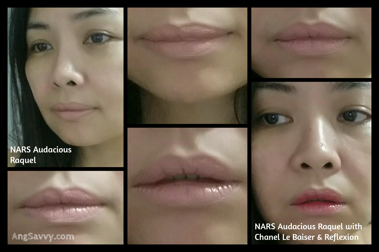 Swatches for NARS Audacious Lipstick in Raquel