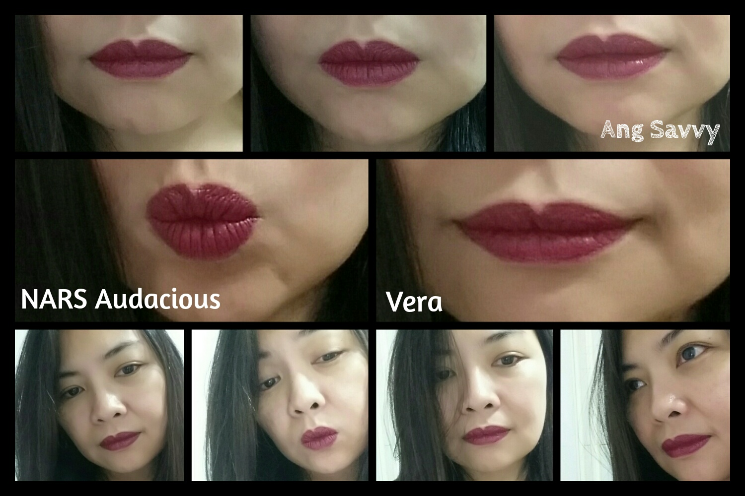 Swatches for NARS Vera Audacious Lipstick