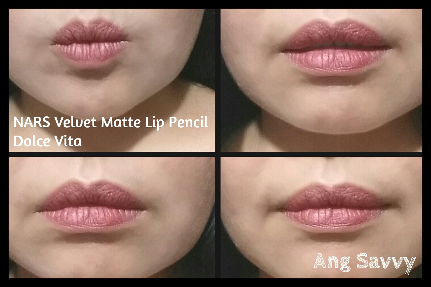 Swatches for NARS Velvet Matte Lip Pencil in Dolce Vita