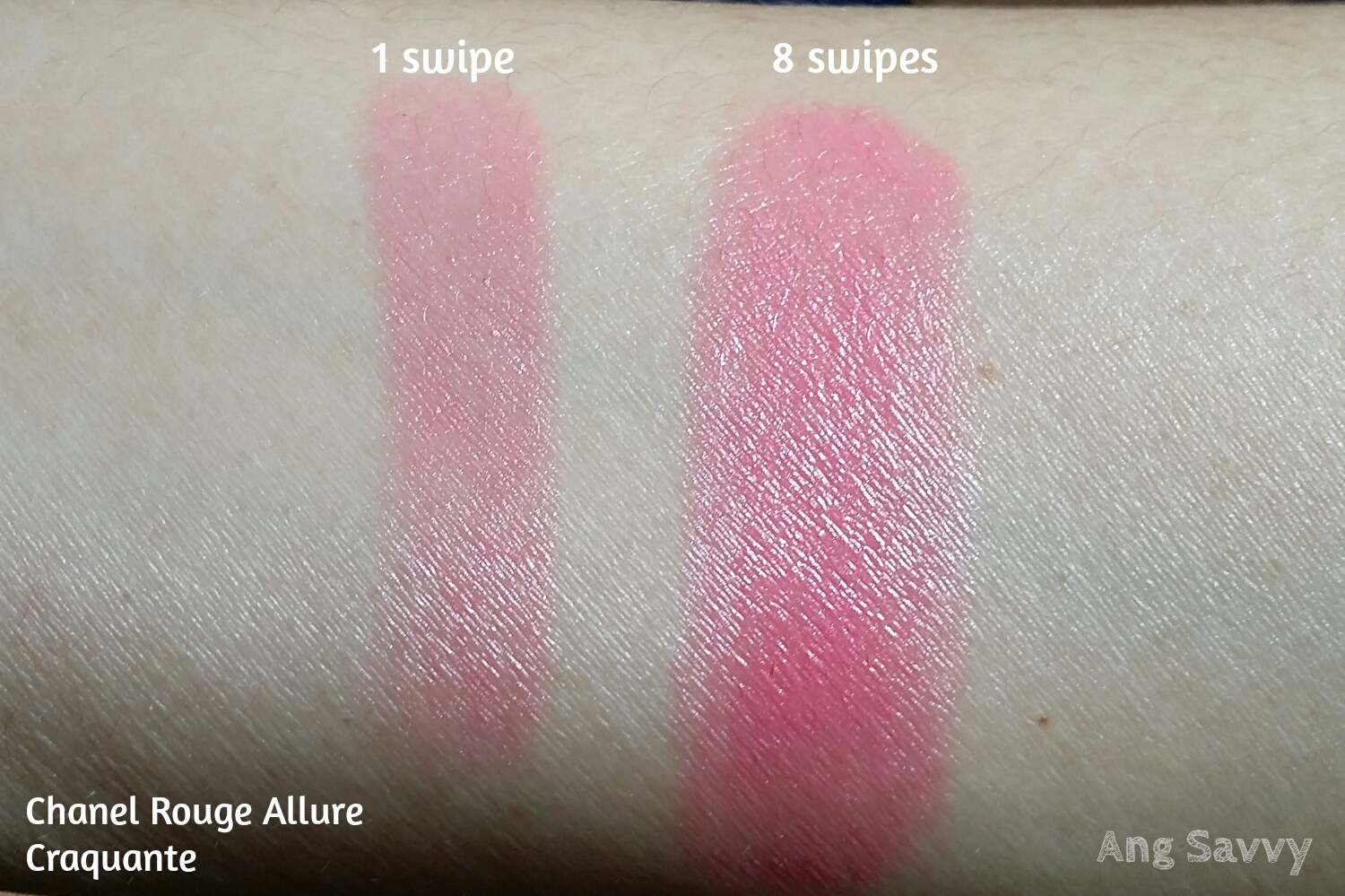 Chanel Rouge Allure 146 Craquante Swatch