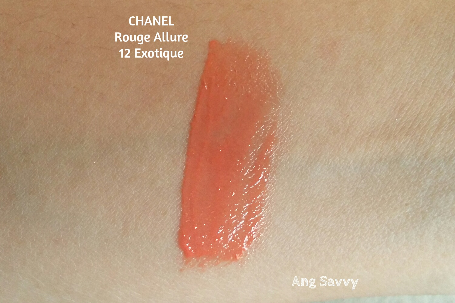 Chanel Rouge Allure Gloss in 12 Exotique Swatch