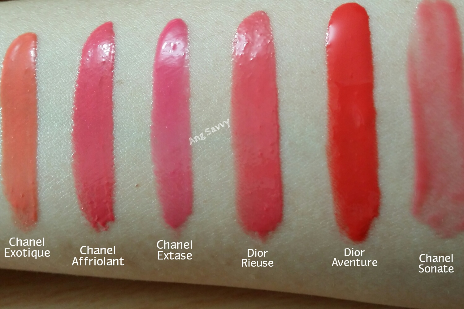 Chanel Rouge Allure Gloss 13 Affriolant Swatch