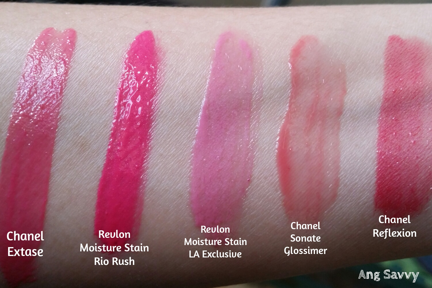 Chanel Rouge Allure Gloss 16 Extase Swatch