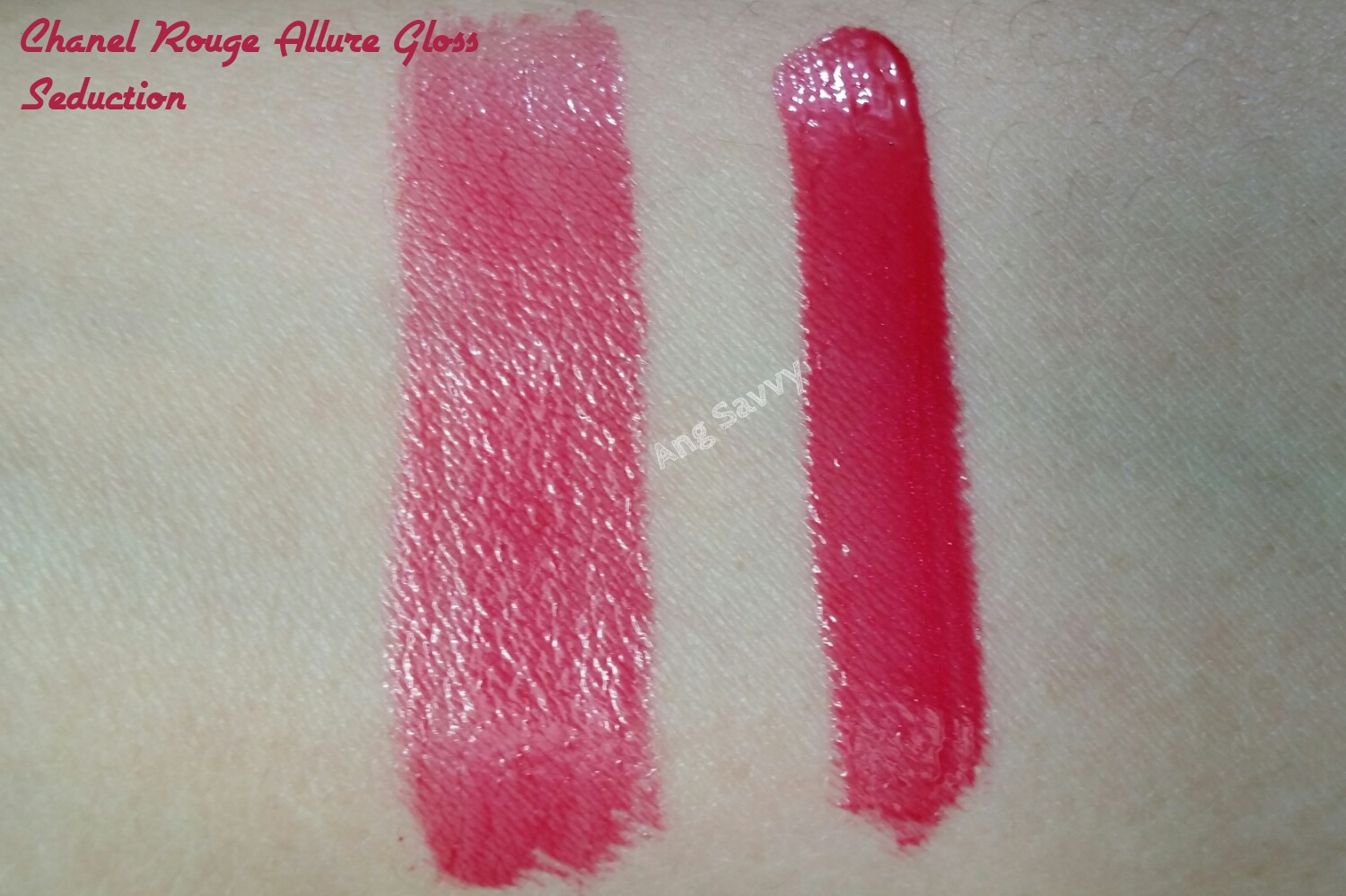 Chanel Rouge Allure Gloss 18 Seduction Swatch