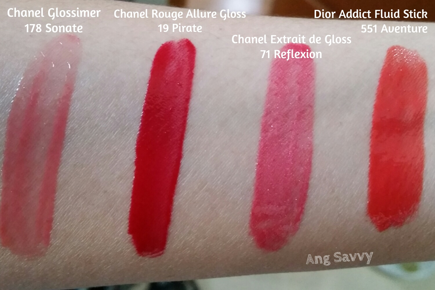 Chanel Rouge Allure Gloss 19 Pirate Swatch