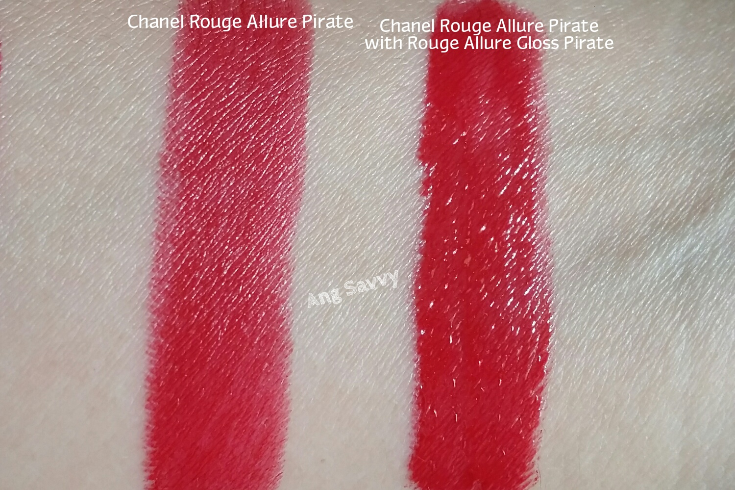 Chanel Rouge Allure 99 Pirate Lipstick Swatch
