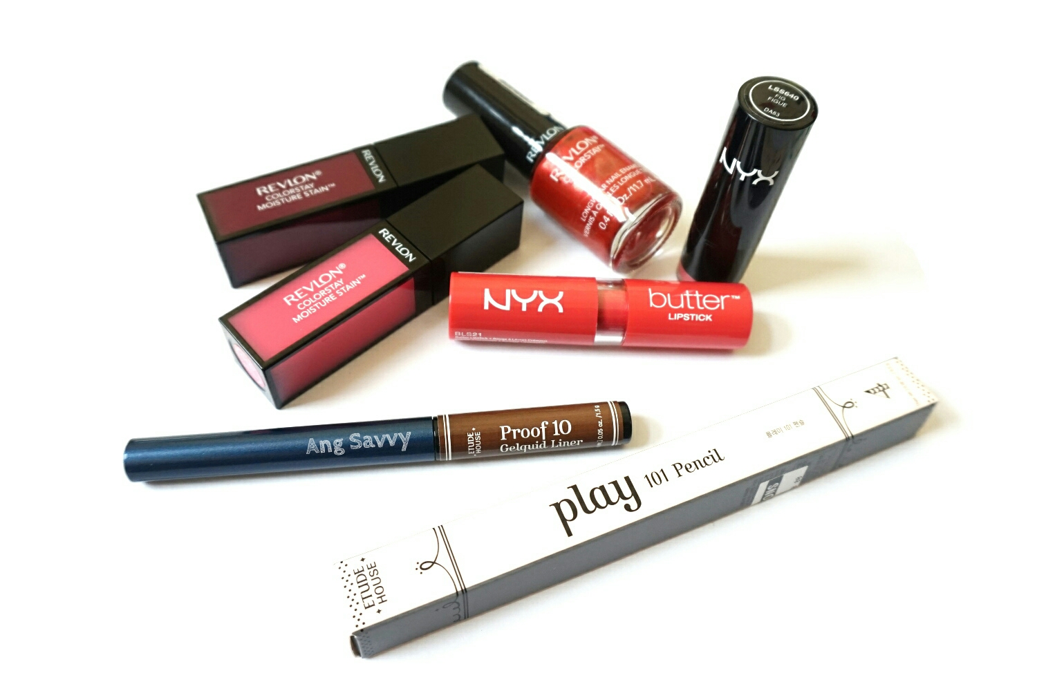 Makeup Mini Haul: Revlon Colorstay, NYX Lipsticks and Etude House Liners