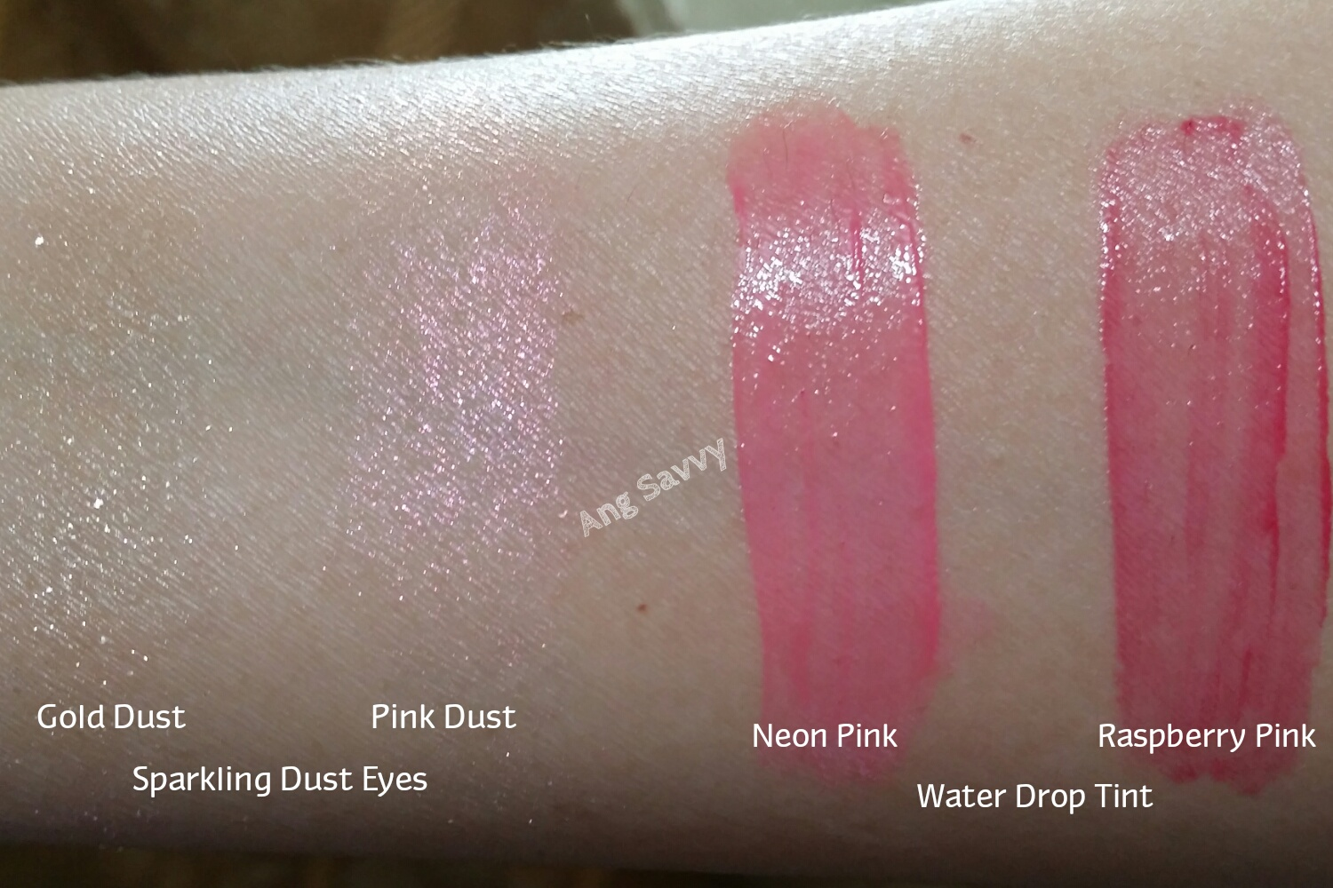 LANEIGE Sparkling Makeup Collection Swatch