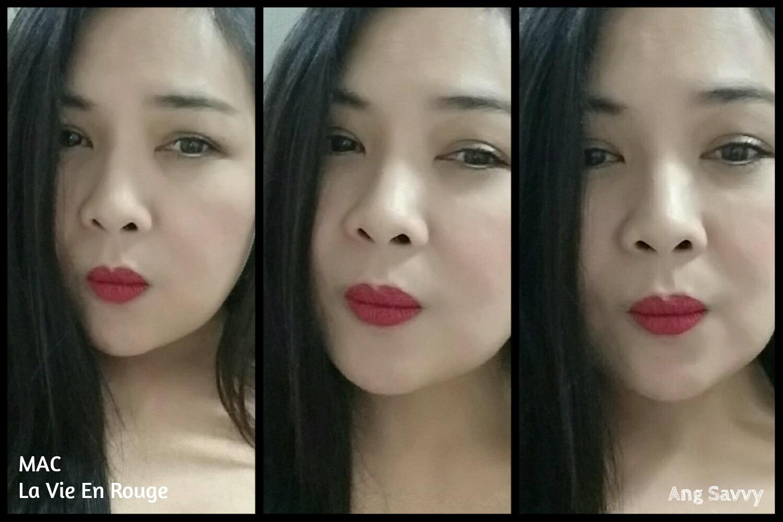 MAC La Vie En Rouge Matte Lipstick Swatch