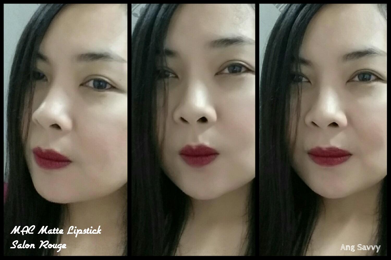 MAC Salon Rouge Matte Lipstick Swatch
