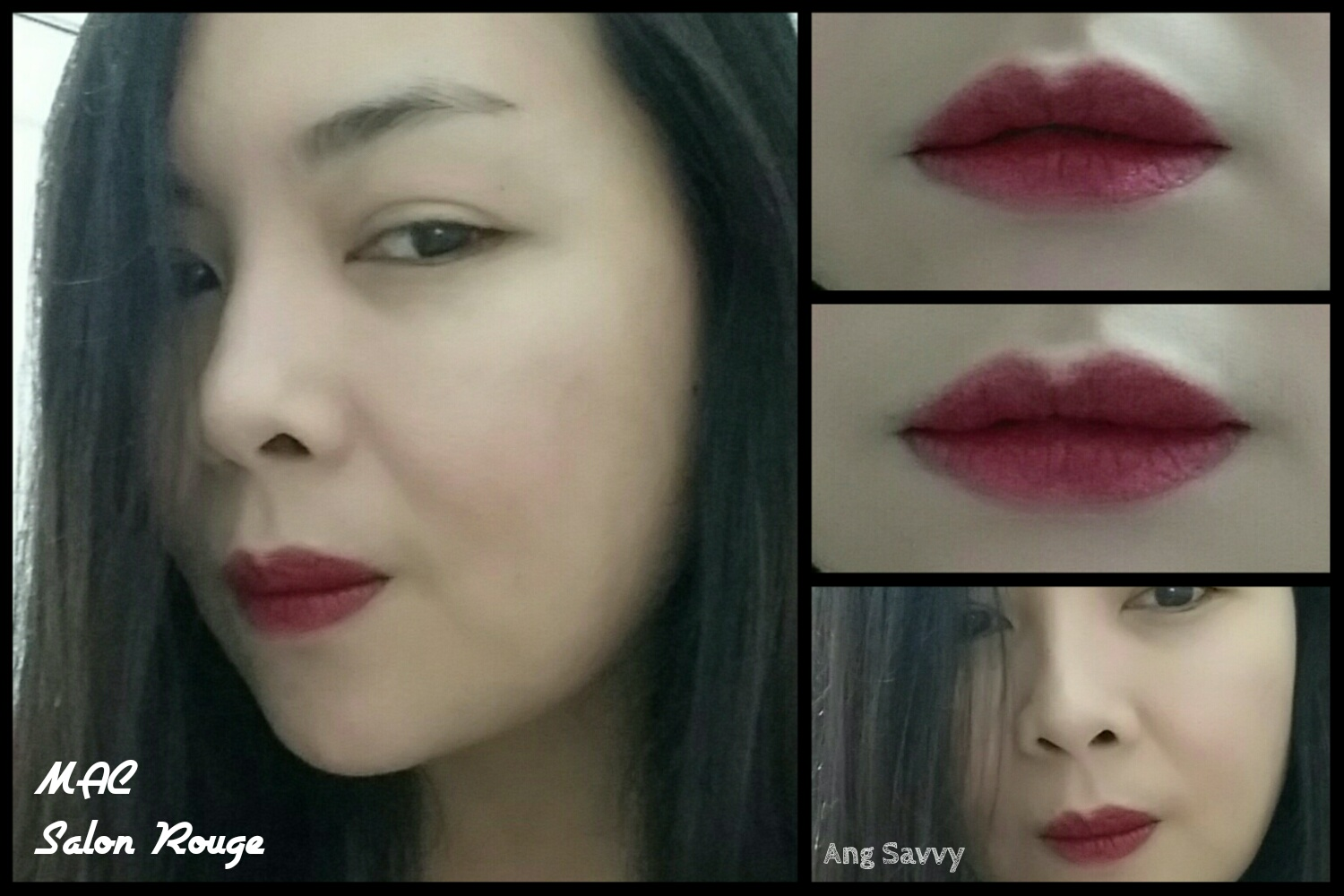 MAC Salon Rouge Matte Lipstick Swatch