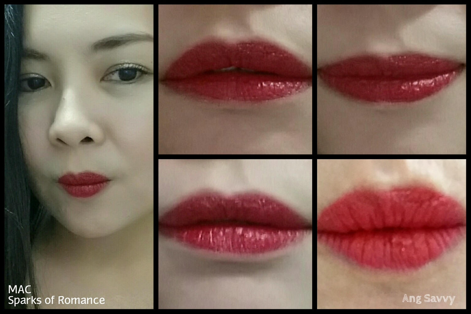 MAC Sparks of Romance Matte Frost Lipstick Swatch