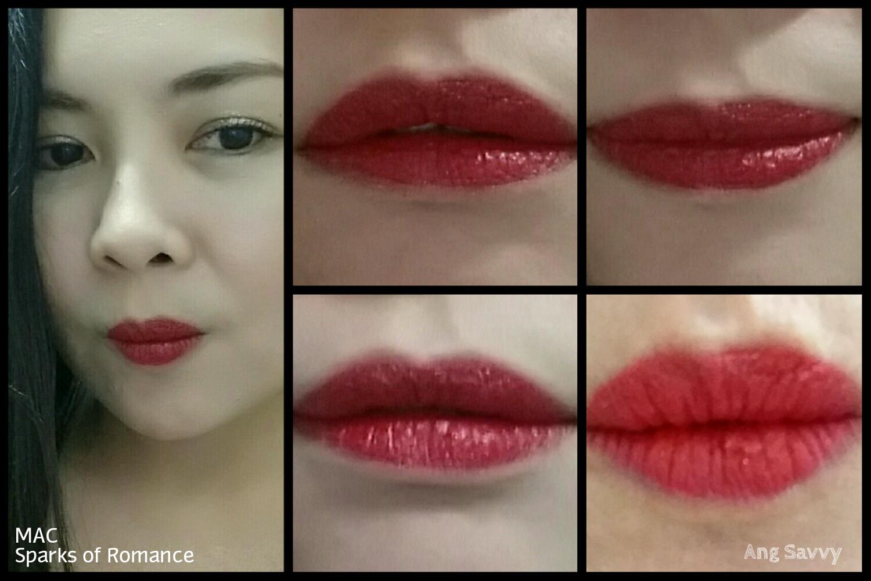mac sparks of romance lipstick swatch
