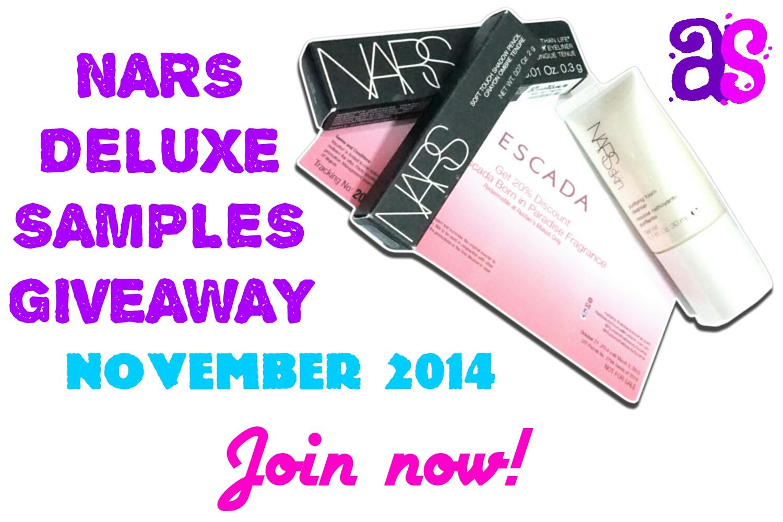 November Nars Samples Giveaway