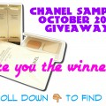 October 2014 Chanel Samples Giveaway