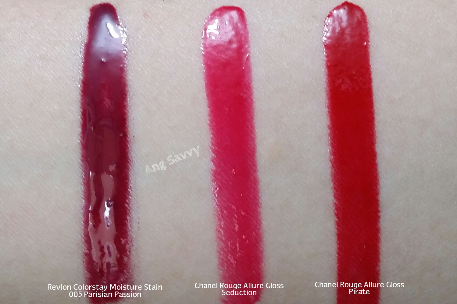 Revlon Colorstay Moisture Stains in 005 Parisian Passion Swatch