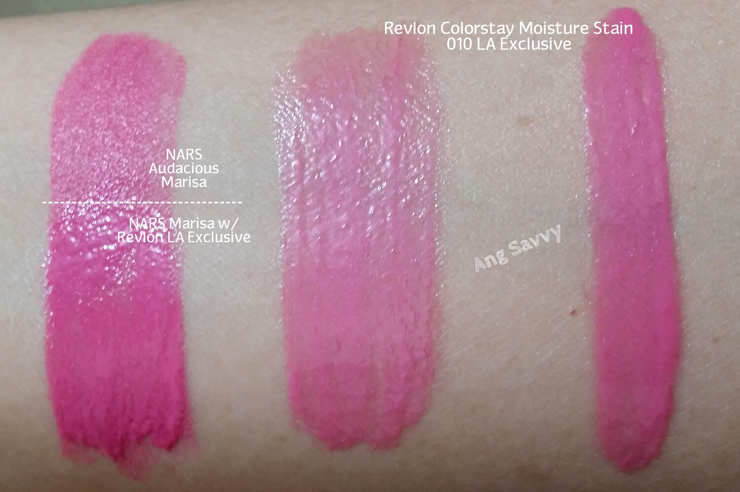 Revlon Colorstay Moisture Stains 010 LA Exclusive Swatch