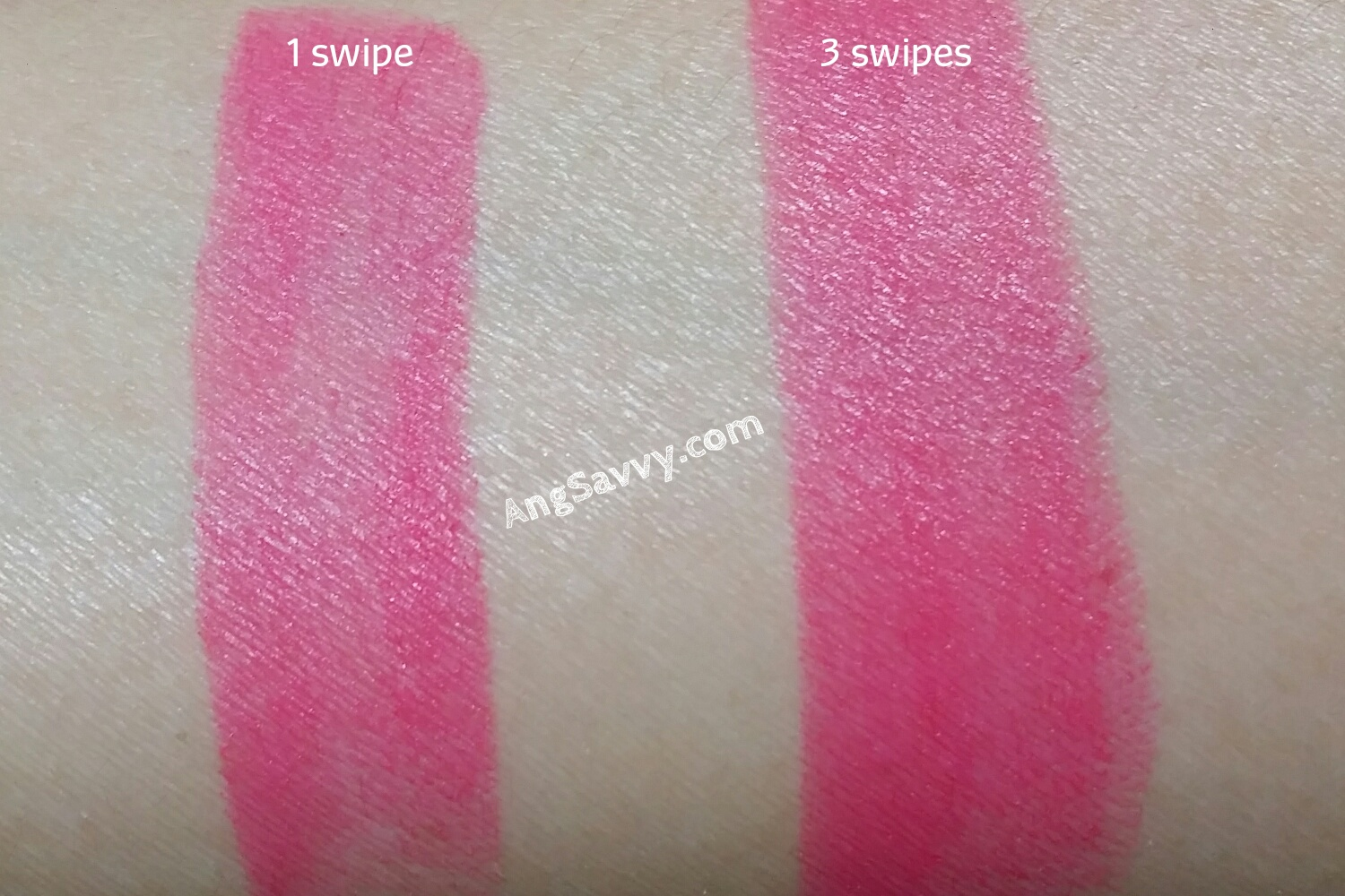 Maybelline Color Sensational Bold Matte MAT 1 Lipstick Swatch