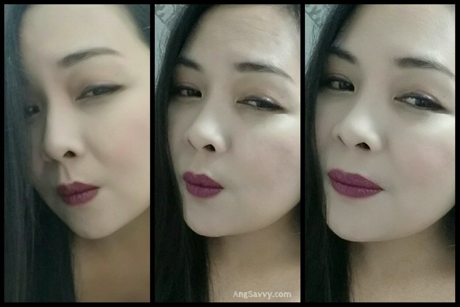 Maybelline Color Show Plum Perfect Lip Swatches