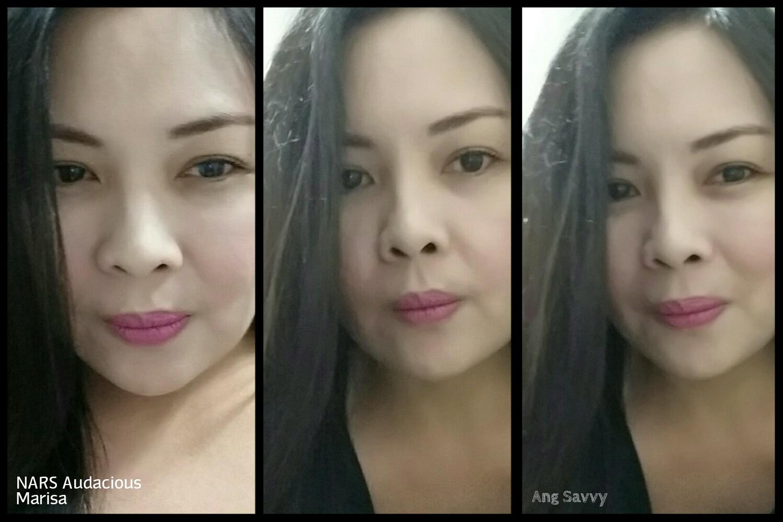 NARS Audacious Lipstick in Marisa Swatch