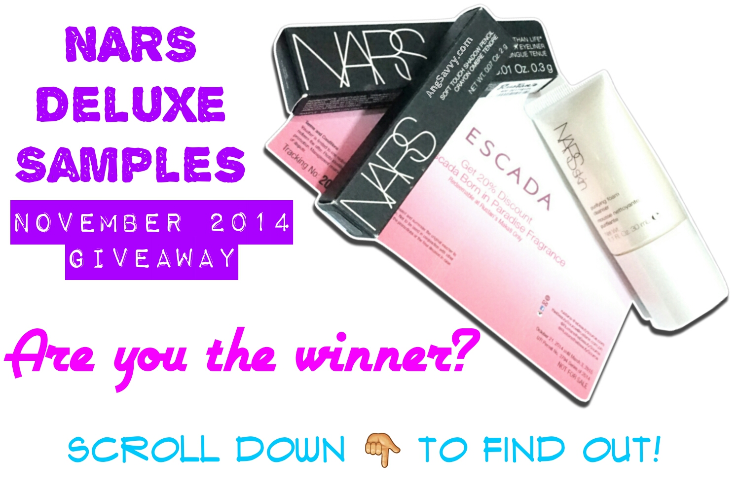 NARS November 2014 Giveaway Winner