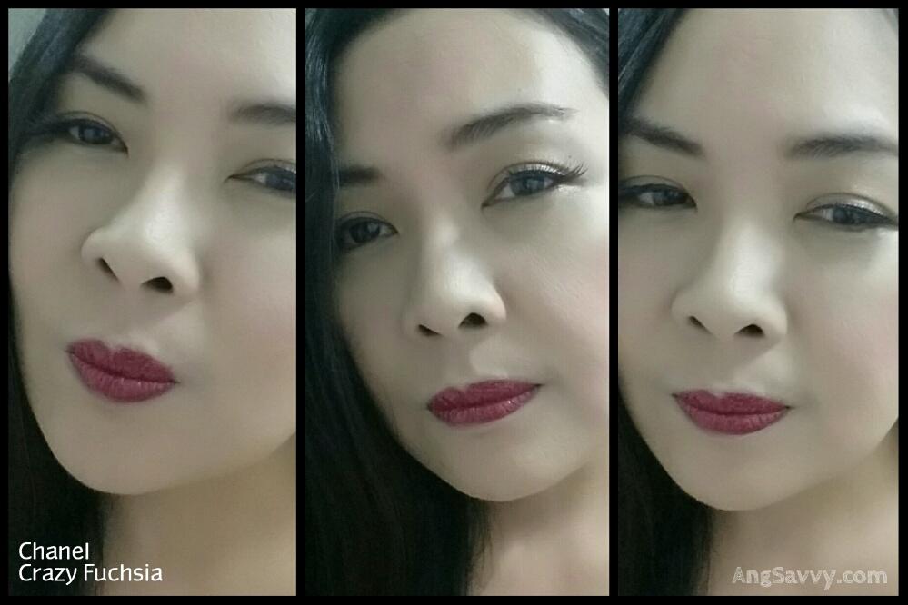 Chanel Crazy Fuchsia Glossimer Lip Swatches