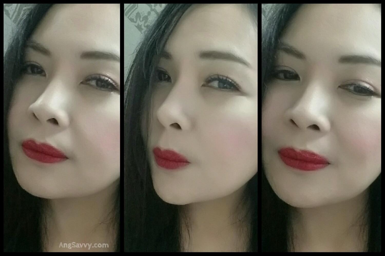 Inglot 408 Matte Lipstick Lip Swatches