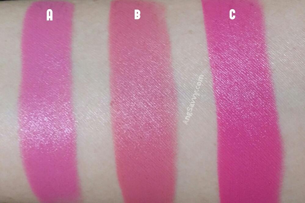 MAC Pink Nouveau Lipstick Swatches