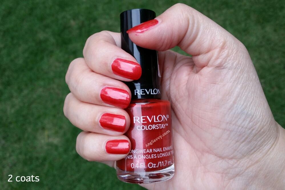 Revlon Colorstay Nail Polish Cayenne Swatch