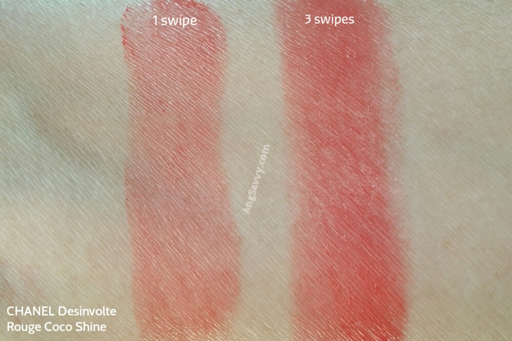 Chanel Desinvolte Rouge Coco Shine Swatches