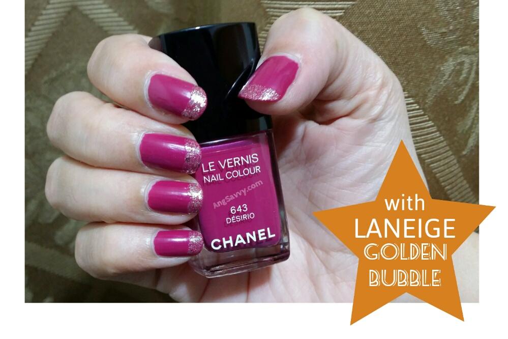 Chanel Desirio Nail Polish with Laneige Golden Bubble