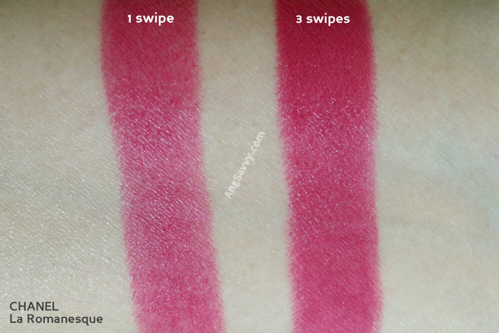 Chanel La Romanesque Rouge Allure Velvet Swatches