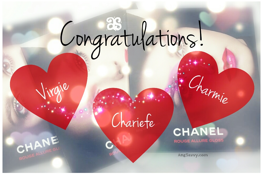 Chanel Rouge Allure Gloss Samples Giveaway Winners