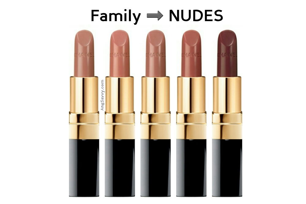 Chanel Rouge Coco Collection New Formula Nudes