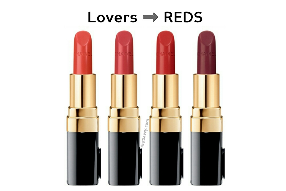 Chanel Rouge Coco Collection New Formula Reds