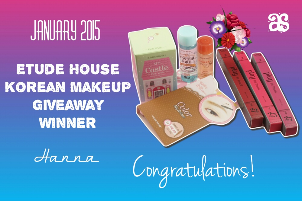 Etude House Korean Makeup International Giveaway Winner