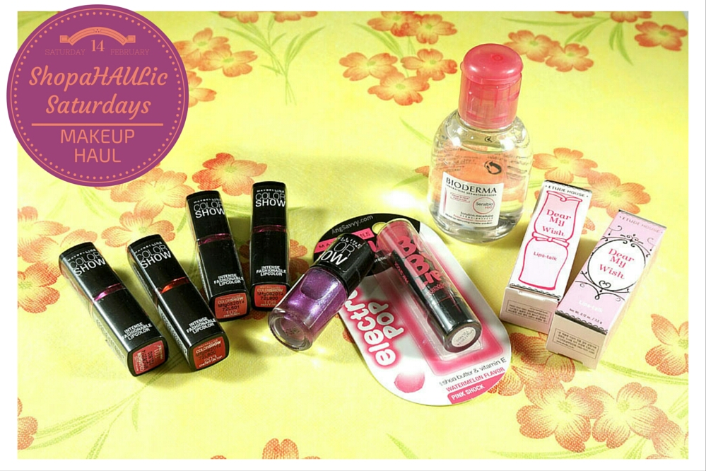 Makeup Haul Maybelline Bioderma Etude House