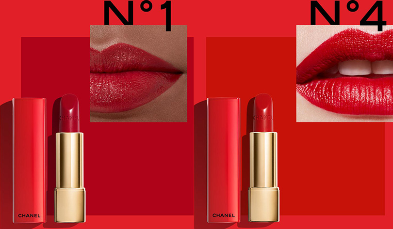 Chanel Rouge Allure No1 No4