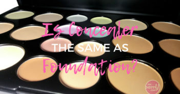 Is Concealer The Same As Foundation