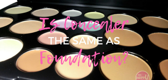 Is Concealer The Same As Foundation?